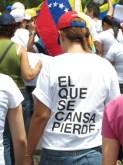 Mensajes de los protestantes en Puerto Ordaz, Guayana. 24M 2014.
