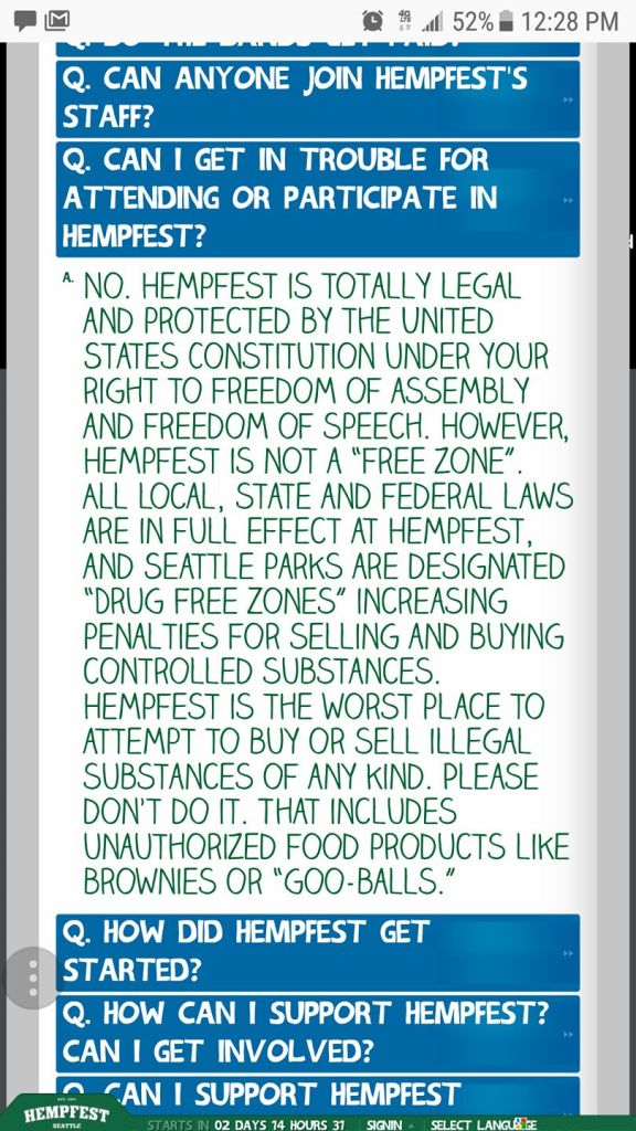 Hempfest says you must obey the law