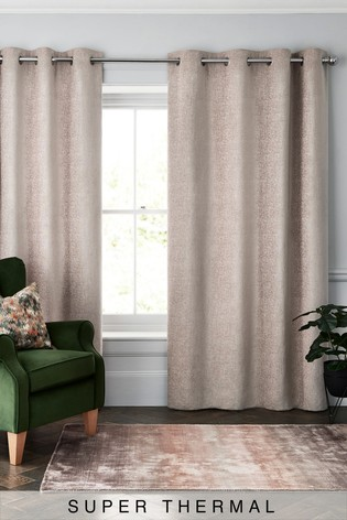 heavyweight chenille eyelet super thermal curtains
