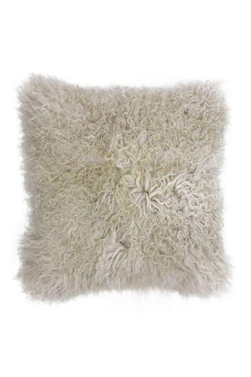 mongolian faux fur cushion by riva home