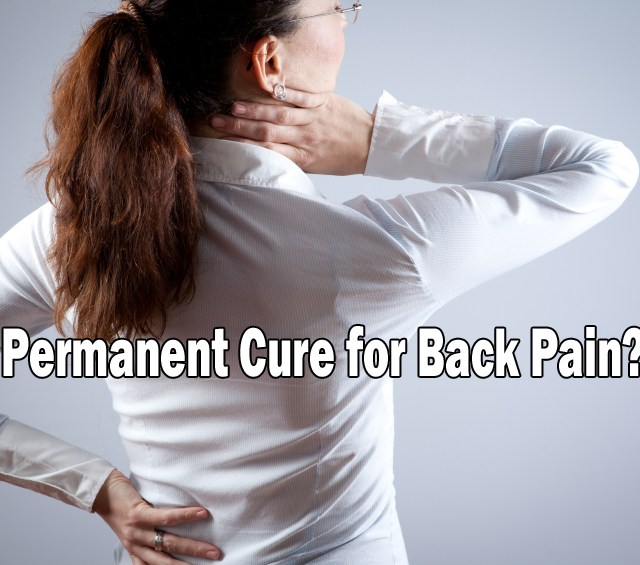 cure for back pain