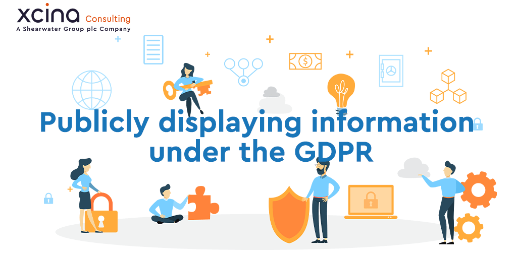 Publicly displaying information under the GDPR
