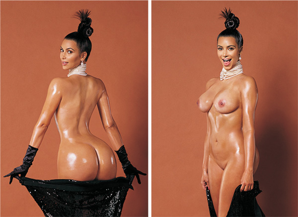 Kim Kardishian in all her glory. Photo credits: Paper Magazine