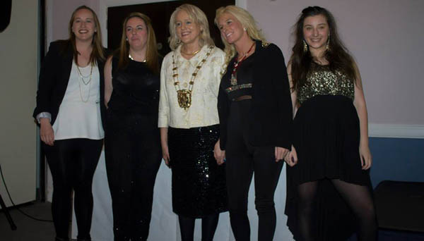 Sharon Geraghty, Lorraine Kelly, Mags Murray (Mayor of Fingal County Council) Debbie Solinas & Miss Solinas