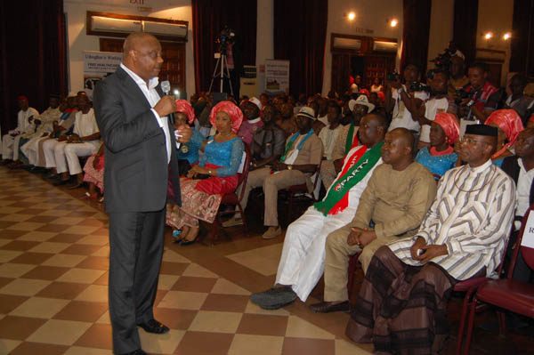 Delta State Labour Party (LP) governorship candidate Great Ogboru declining to debate with his APC counterpart