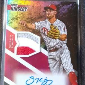 Scott Kingery Topps Fire Autographed numbered patch card