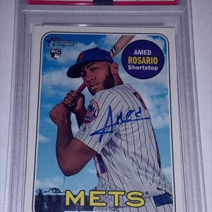 AMED ROSARIO autographed rookie card