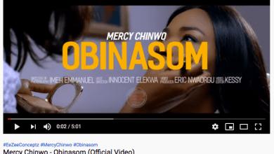 Photo of Mercy Chinwo's Obinasom hits 1Million YouTube Views in 3 weeks