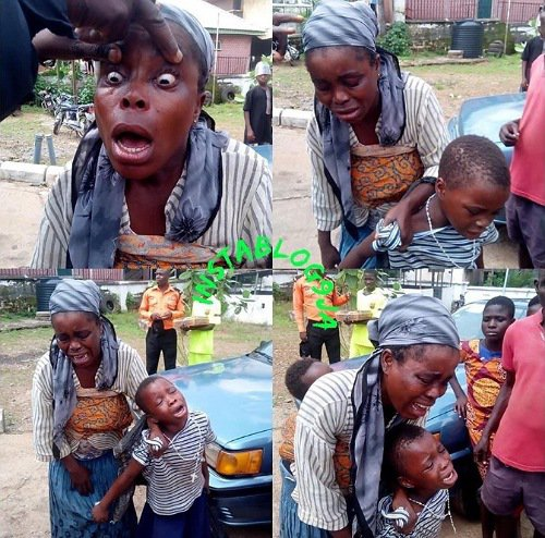 Woman Exposed And Arrested After Pretending To Be Blind In Ebonyi State
