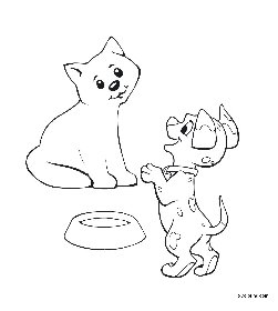 cat and dog coloring pages free cooloring com