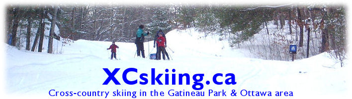 Banner: Cross-country skiing in the Gatineau Park & Ottawa area