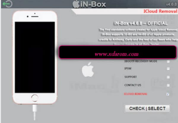 in-box V4 8 0 iPhone iCloud Lock Remove Any iOS Unlock Tool Download