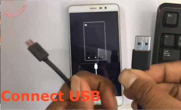 Connect USB Cable With Computer