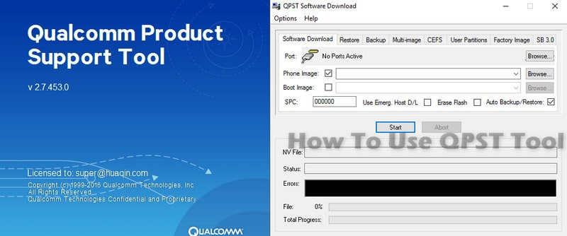 How To Use QPST Tool
