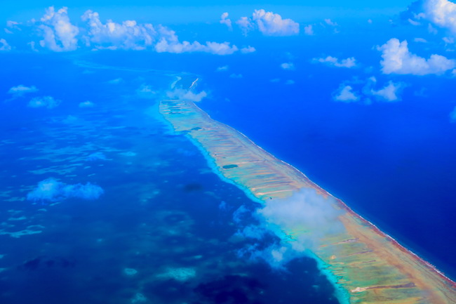 Rangiroa French Polynesia from the air