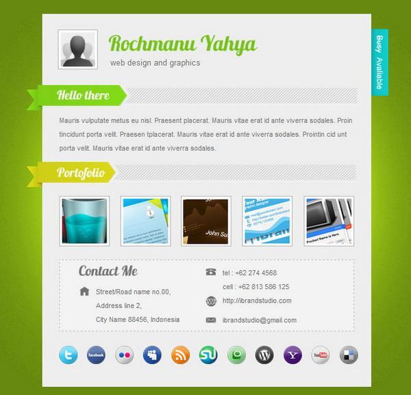 20 free and premium vcard cv web templates xdesigns
