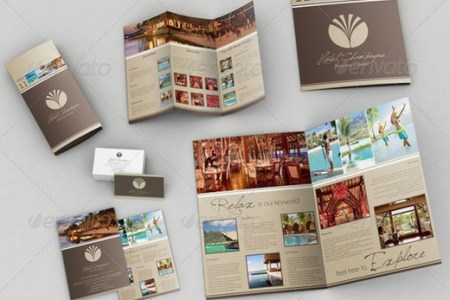 20  Awesome Corporate Brochure Templates   XDesigns A3   A4 Trifold Brochure   Business Card Bonus    Screenshot