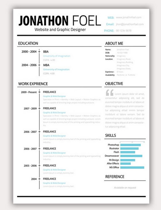 Resume Creative Template creative resume template trendy resumes – Free Word Design Templates