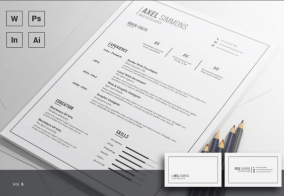 Download 35 Free Creative Resume   CV Templates   XDesigns Simple Resume Template in word   PSD   INDD   AI file format
