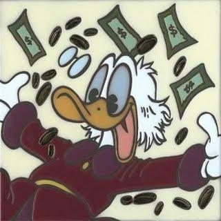 Scrooge McDuck in the money