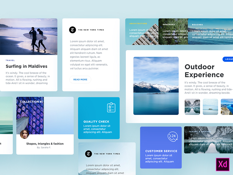 Free Blog Components for Adobe Xd