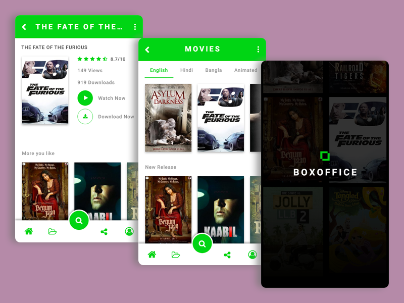 Box Office Apps - Movie list app design for movie lovers
