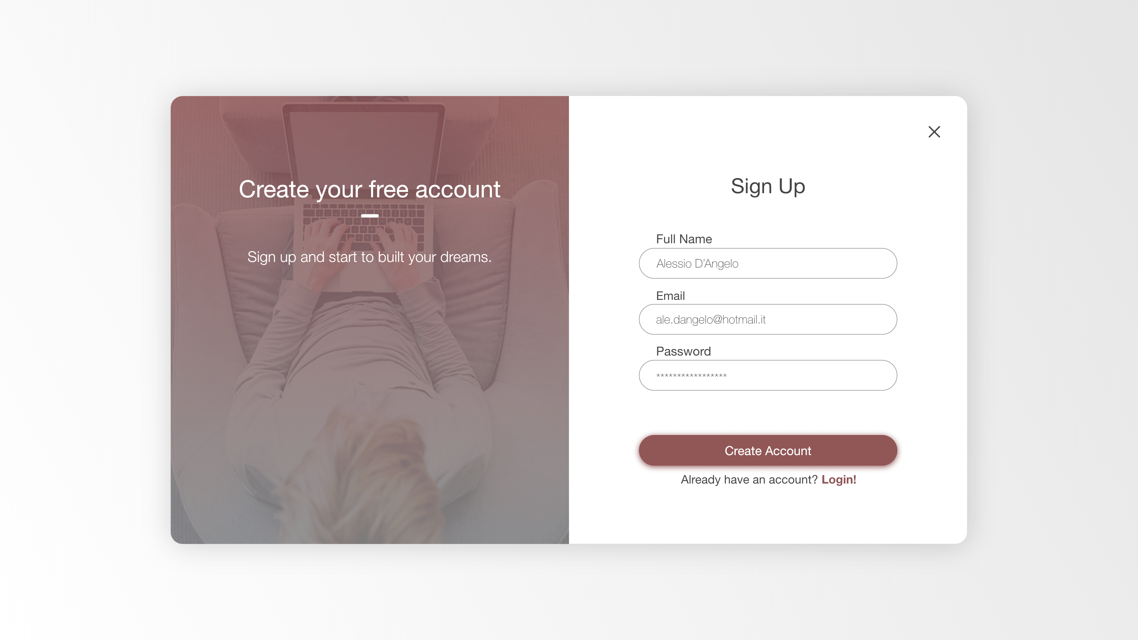 Free Daily UI for Adobe XD - Set 1