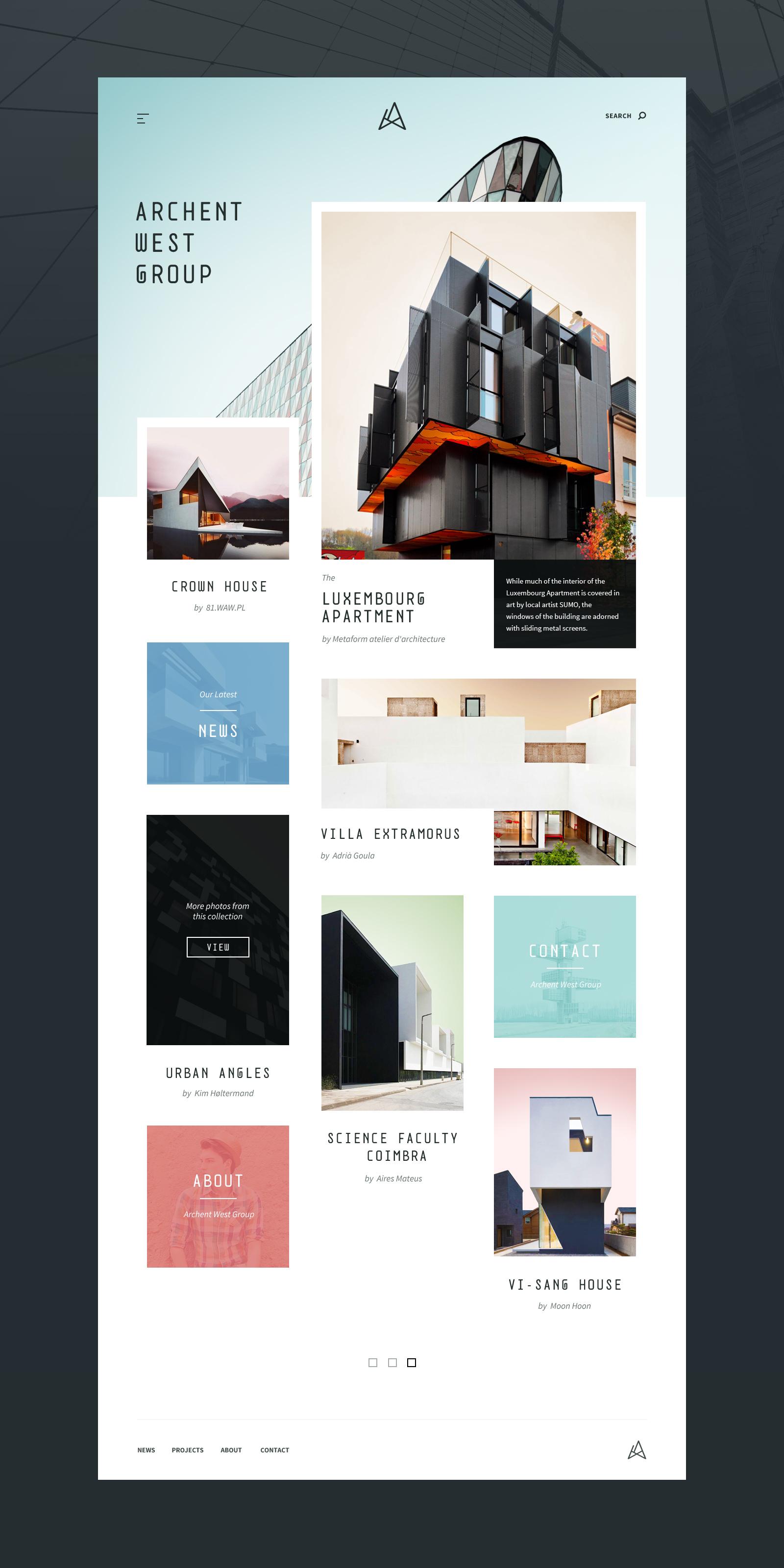 Architecture Website Template Concept – Adobe XD