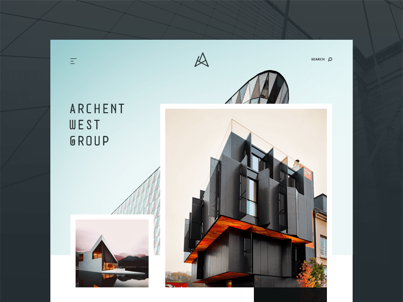 Architecture Website Template Concept – Adobe XD