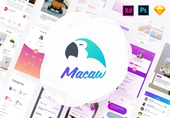 Macaw UI Kit - Универсальный набор мобильных UI