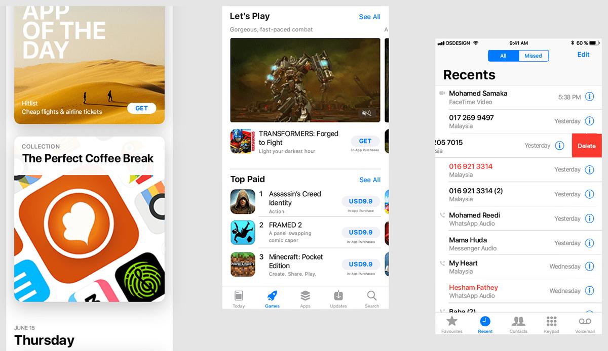 Бесплатный мокап iPhone X и iOS 11 GUI для Sketch, PS и XD