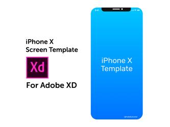 Бесплатный флэт мокап iPhone X для Adobe XD