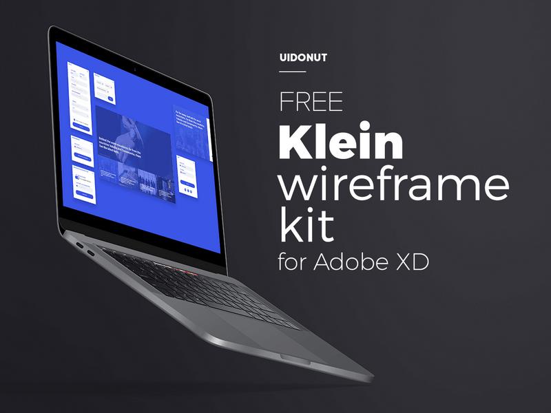 Klein – Бесплатный комплект варфреймов для Adobe XD