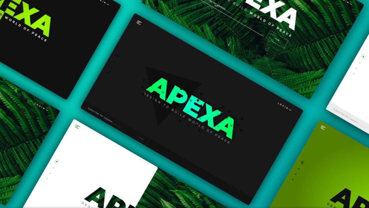 APEXA – Бесплатные шаблоны дизайна Landing page для Adobe XD