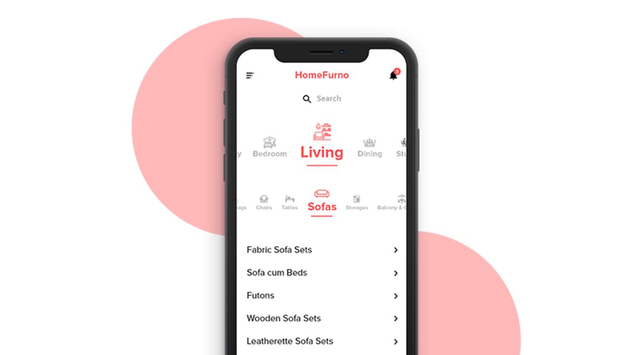 Craigslist Redesign – Бесплатная мобильная концепция для списка категорий мебели сделанная в Adobe XD
