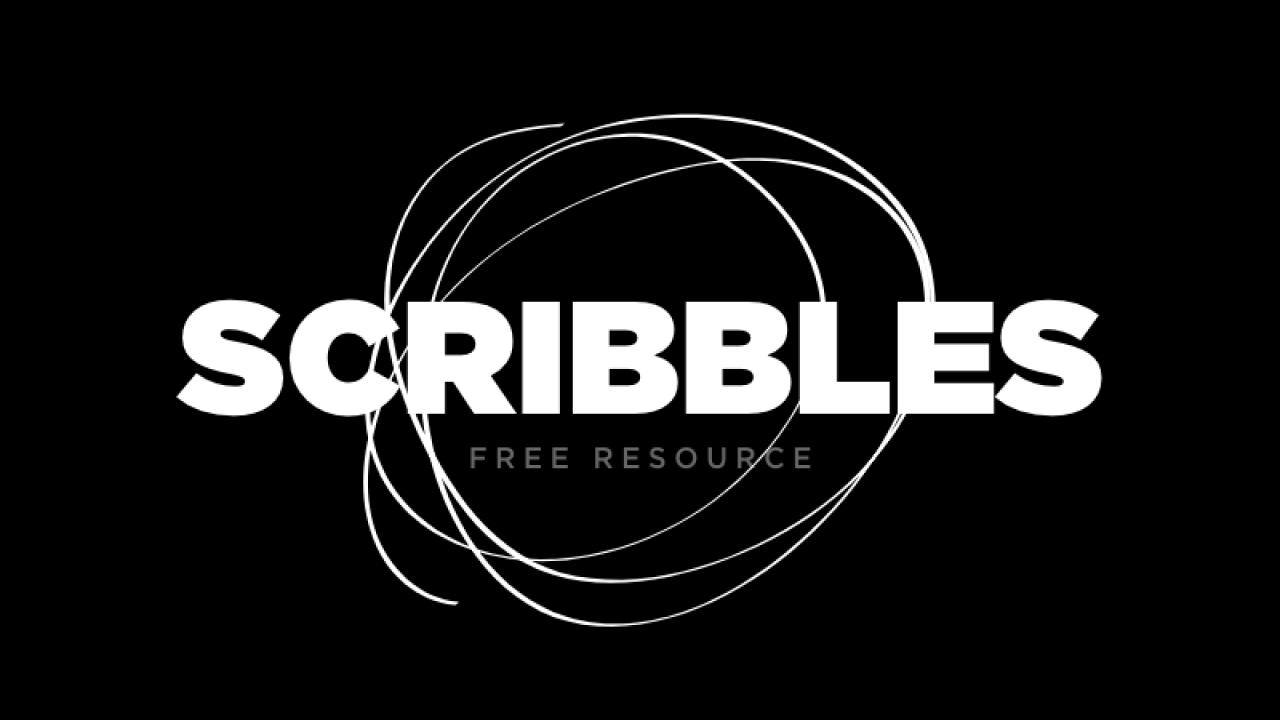Scribbles Kit – Бесплатный творческий набор каракулей для Adobe XD и Illustrator