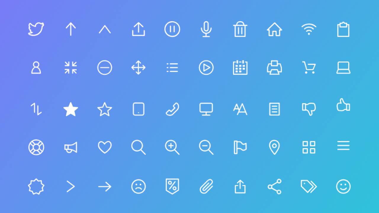 100 бесплатных флэт иконок для Adobe XD