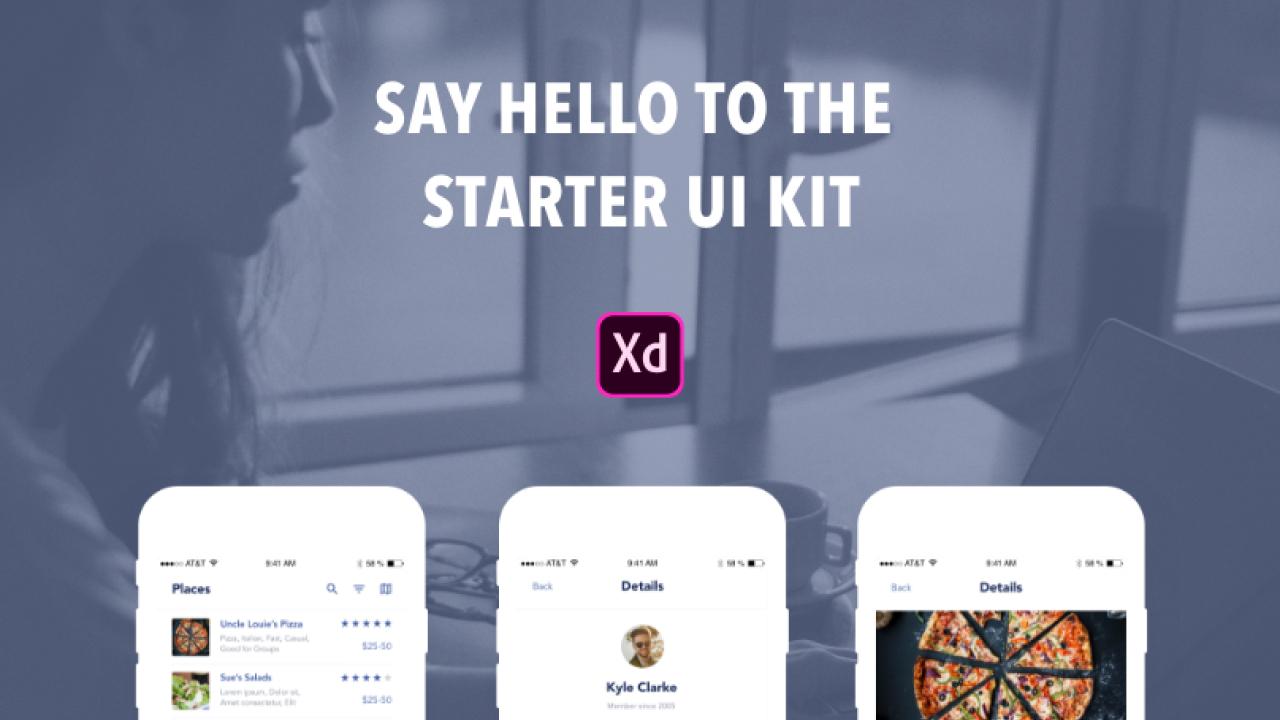 Бесплатный стартовый UI Kit для Adobe XD