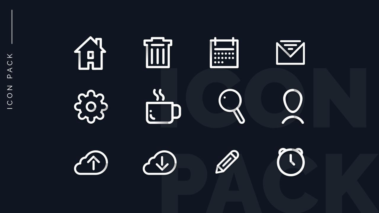Бесплатный пакет иконок для Adobe XD