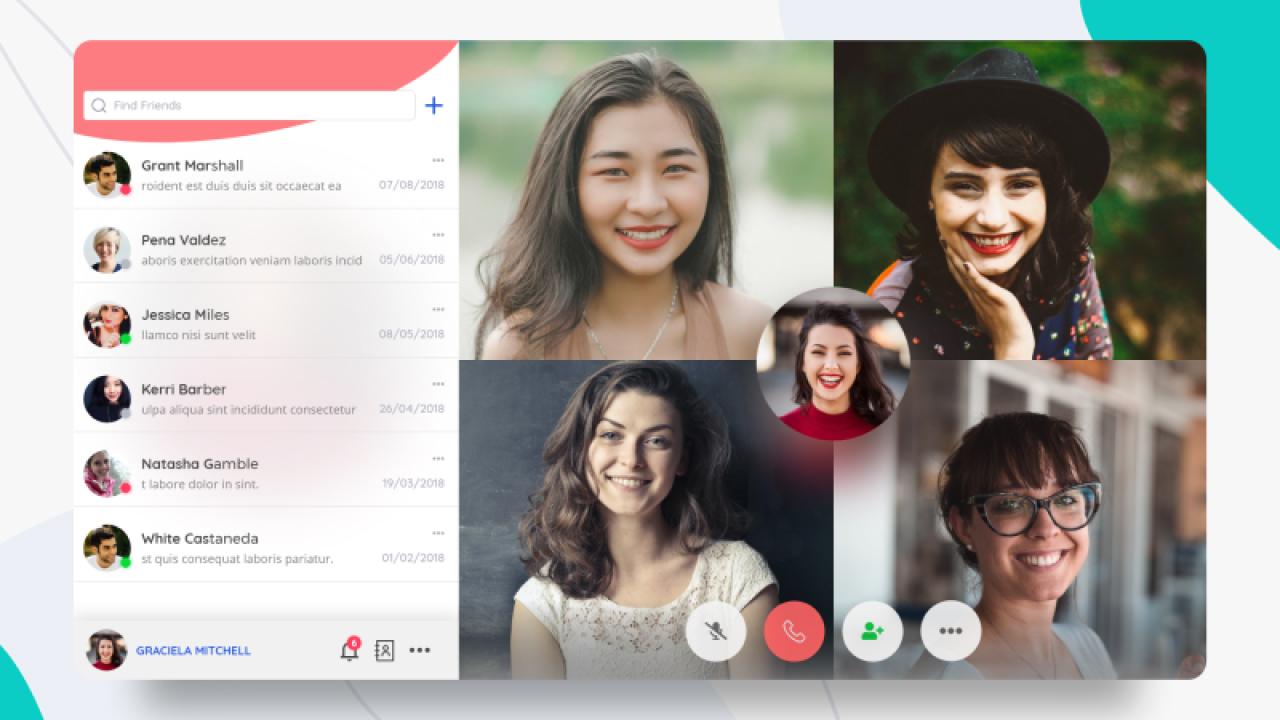 Шаблон веб приложения для групповых видеозвонков