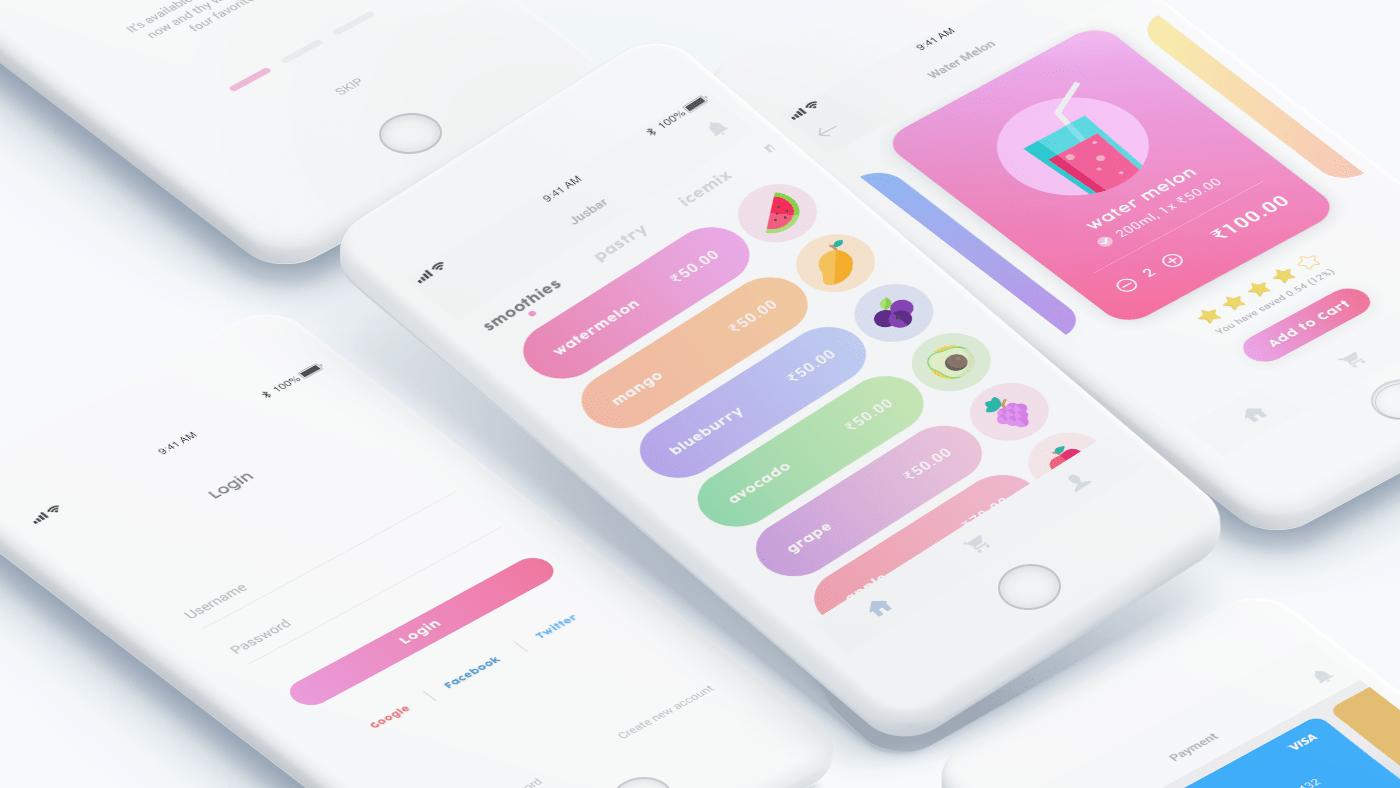 Jusbar – Бесплатный коллекционный .XD UI Kit iOS приложений