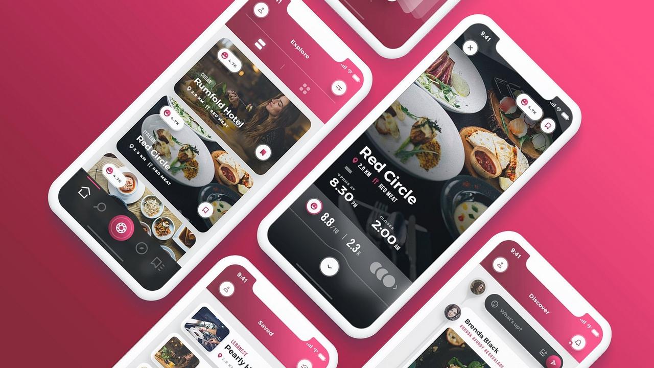 Scarlett Mobile UI kit – Эстетичный UI Kit мобильного приложения о еде и ресторанах для креативщиков и гурманов