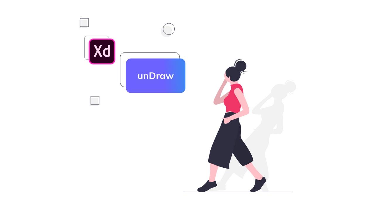 Иллюстрации unDraw для Adobe XD