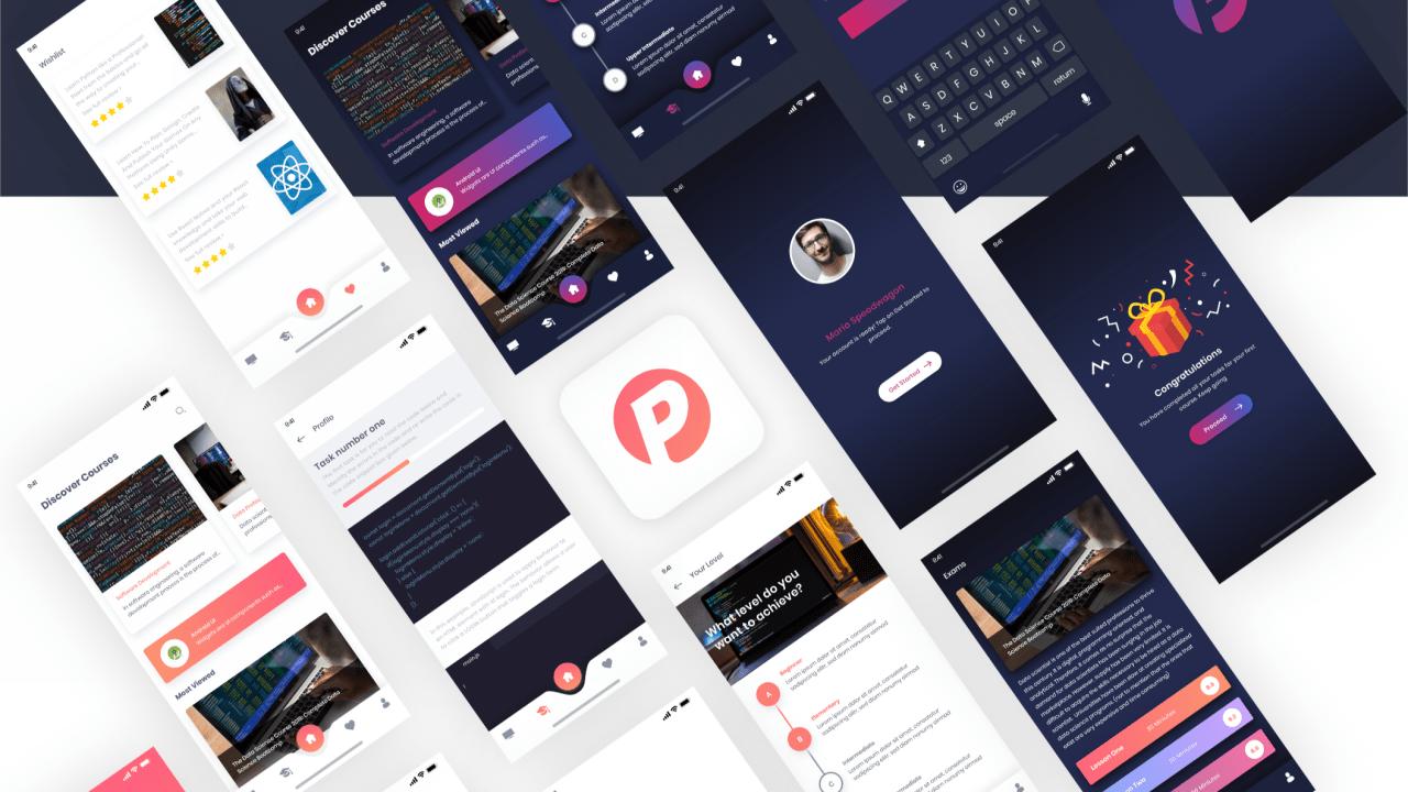 Plexus – Бесплатный UI kit для Adobe XD