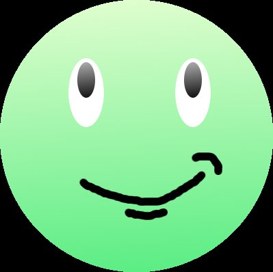 happy face smiling looking up graphic