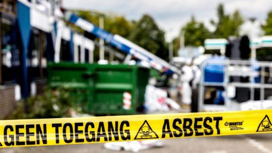 asbest lint buiten