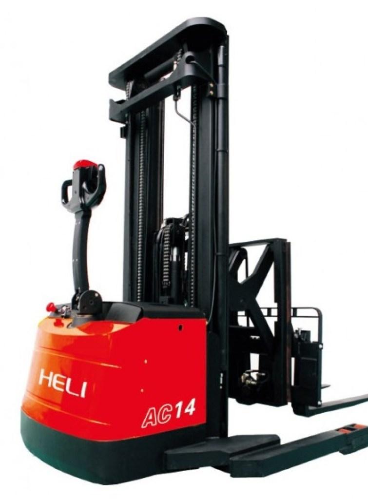 Xe nâng điện stacker push pull heli CQDH13/14-850