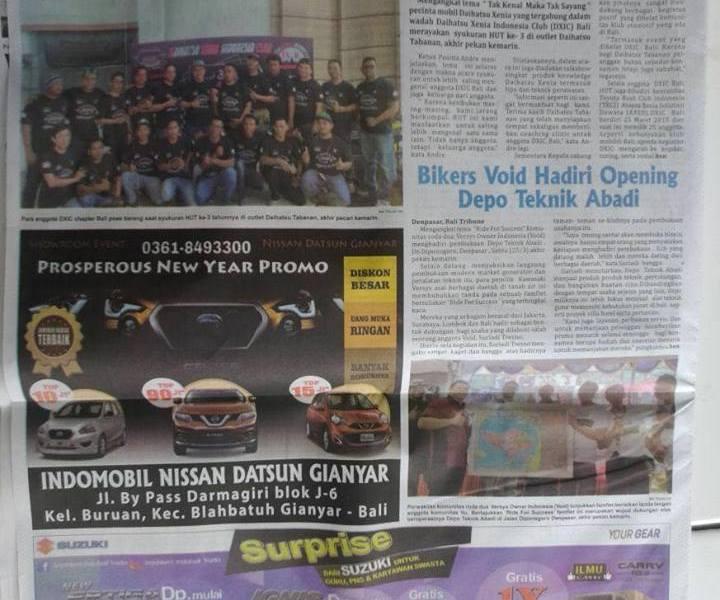 Liputan HUT DXIC Bali di Koran Bali Tribune