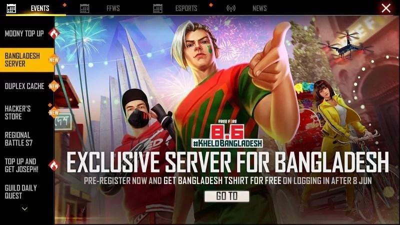 Free Fire Bangladeshs dedicated server