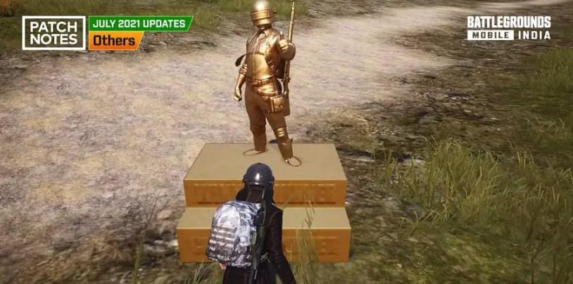 BGMI 1.5 Update - Victory Statue